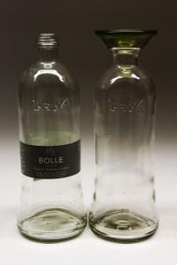 Lurisia Bolle Sparkling Water flaske omformet til vase/karaffel