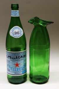 San Pellegrino flaske omformet til karaffel
