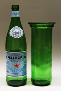 San Pellegrino flaske upcycled til vase
