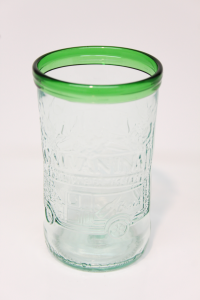 Drikkeglas af Galvanina flaske