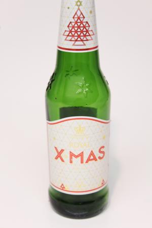 Royal X-Mas juleøl flaske upcycling til Drikkeglas